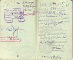 Pages 12 & 13 of 1948 Passport