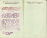 Pages 6 & 7 of 1948 Passport