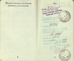 Pages 8 & 9 of 1948 Passport