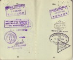 Pages 10 & 11 of Laura's 1954 Passport