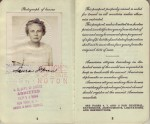 Pages 4 & 5 of Laura's 1954 Passport