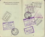 Pages 8 & 9 of Laura's 1954 Passport