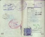 Pages 10 & 11 of Laura's 1972 Passport